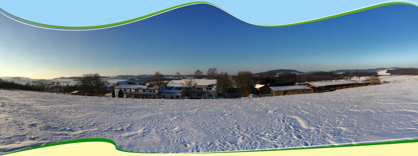 Hardthof im Winter mit Winterlandschaft